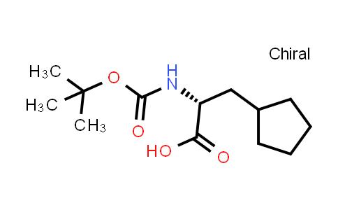 219819-74-6 | (2R)-2-{[(tert-Butoxy)carbonyl]amino}-3-cyclopentylpropanoic acid