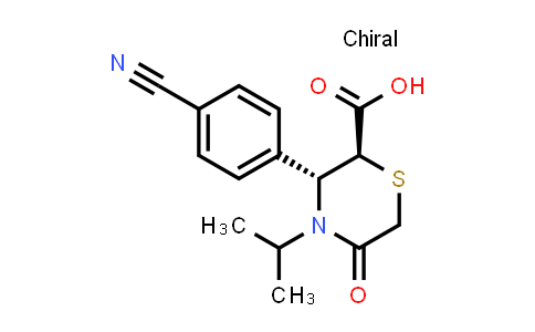 2198400-00-7 | (2S,3R)-3-(4-Cyanophenyl)-5-oxo-4-(propan-2-yl)thiomorpholine-2-carboxylic acid