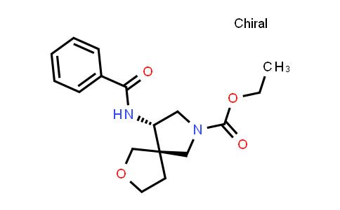 219869-24-6 | 2-Oxa-7-azaspiro[4.4]nonane-7-carboxylic acid, 9-(benzoylamino)-, ethyl ester, (5R,9S)-rel-