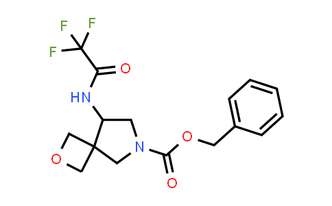 219869-47-3 | 2-Oxa-6-azaspiro[3.4]octane-6-carboxylic acid, 8-[(2,2,2-trifluoroacetyl)amino]-, phenylmethyl ester