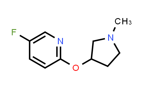 2198986-75-1 | 5-Fluoro-2-[(1-methylpyrrolidin-3-yl)oxy]pyridine