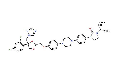 219923-84-9 | 2-Imidazolidinone, 1-[4-[4-[4-[[(2R,4S)-4-(2,4-difluorophenyl)-4-(1H-1,2,4-triazol-1-ylmethyl)-1,3-dioxolan-2-yl]methoxy]phenyl]-1-piperazinyl]phenyl]-3-(1-methylethyl)-