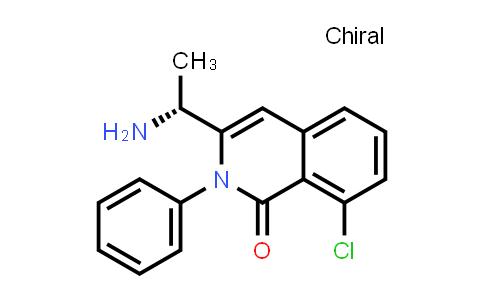 2199389-46-1   (R)-3-(1-aminoethyl)-8-chloro-2-phenylisoquinolin-1(2H)-one