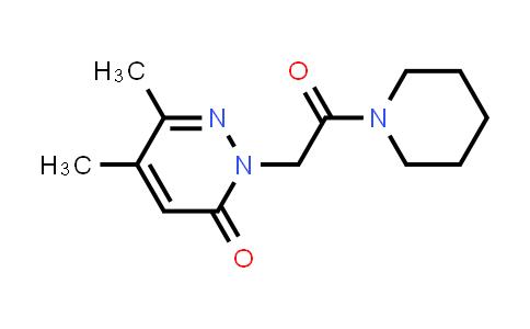 2199765-17-6   5,6-Dimethyl-2-[2-oxo-2-(piperidin-1-yl)ethyl]-2,3-dihydropyridazin-3-one