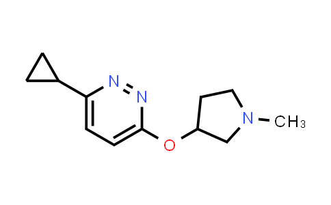 2200805-54-3   3-Cyclopropyl-6-[(1-methylpyrrolidin-3-yl)oxy]pyridazine