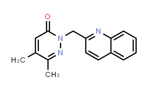 2200852-73-7   5,6-Dimethyl-2-[(quinolin-2-yl)methyl]-2,3-dihydropyridazin-3-one