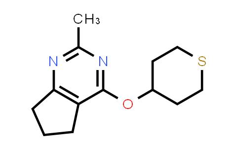 2202342-73-0   2-Methyl-4-((tetrahydro-2H-thiopyran-4-yl)oxy)-6,7-dihydro-5H-cyclopenta[d]pyrimidine