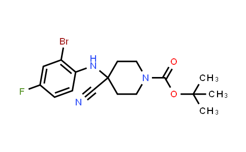 2204141-39-7   tert-Butyl 4-((2-bromo-4-fluorophenyl)amino)-4-cyanopiperidine-1-carboxylate