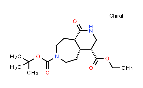 2204312-93-4 | rel-7-(tert-Butyl) 4-ethyl (4R,4aR,9aS)-1-oxodecahydro-7H-pyrido[3,4-d]azepine-4,7-dicarboxylate