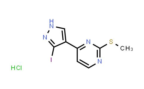 2204368-16-9   4-(3-Iodo-1H-pyrazol-4-yl)-2-(methylthio)pyrimidine hydrochloride