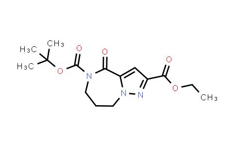 2206111-88-6   5-(tert-Butyl) 2-ethyl 4-oxo-7,8-dihydro-4H-pyrazolo[1,5-a][1,4]diazepine-2,5(6H)-dicarboxylate