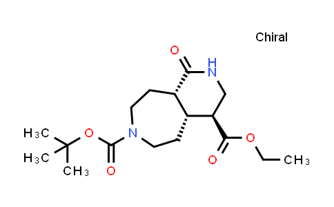 2206134-84-9   rel-7-(tert-Butyl) 4-ethyl (4S,4aR,9aS)-1-oxodecahydro-7H-pyrido[3,4-d]azepine-4,7-dicarboxylate