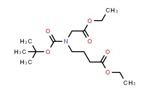 2206230-47-7   Ethyl 4-((tert-butoxycarbonyl)(2-ethoxy-2-oxoethyl)amino)butanoate