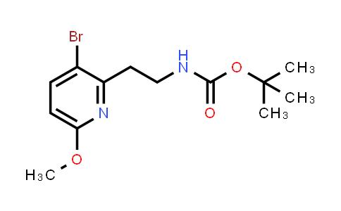 2206567-70-4 | tert-Butyl (2-(3-bromo-6-methoxypyridin-2-yl)ethyl)carbamate