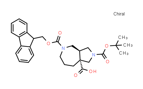 2206606-35-9   rel-(3aS,8aR)-5-(((9H-Fluoren-9-yl)methoxy)carbonyl)-2-(tert-butoxycarbonyl)octahydropyrrolo[3,4-c]azepine-8a(1H)-carboxylic acid