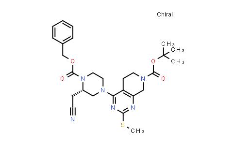 2206736-97-0 | (S)-tert-Butyl 4-(4-((benzyloxy)carbonyl)-3-(cyanomethyl)piperazin-1-yl)-2-(methylthio)-5,6-dihydropyrido[3,4-d]pyrimidine-7(8H)-carboxylate