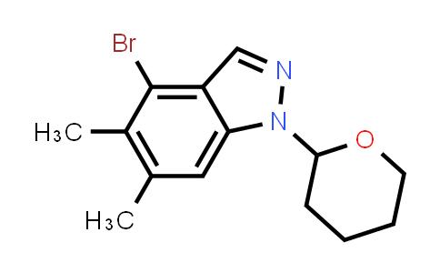 2206742-48-3   4-Bromo-5,6-dimethyl-1-(tetrahydro-2H-pyran-2-yl)-1H-indazole