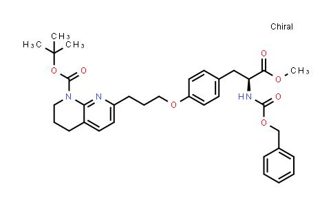 2206777-17-3 | tert-Butyl (S)-7-(3-(4-(2-(((benzyloxy)carbonyl)amino)-3-methoxy-3-oxopropyl)phenoxy)propyl)-3,4-dihydro-1,8-naphthyridine-1(2H)-carboxylate