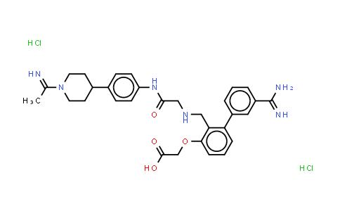 220798-08-3 | Acetic acid, 2-[3-[[[3-(aminoiminomethyl)phenyl][2-[[4-[1-(1-iminoethyl)-4-piperidinyl]phenyl]amino]-2-oxoethyl]amino]methyl]phenoxy]-, (Hydrochloride) (1:2)