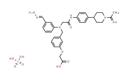 220798-32-3 | Acetic acid, 2-[3-[[[3-(aminoiminomethyl)phenyl][2-[[4-[1-(1-iminoethyl)-4-piperidinyl]phenyl]amino]-2-oxoethyl]amino]methyl]phenoxy]-, sulfate (1:1)
