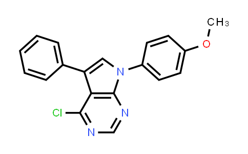 220835-25-6 | 4-Chloro-7-(4-methoxy-phenyl)-5-phenyl-7H-pyrrolo[2,3-d]pyrimidine