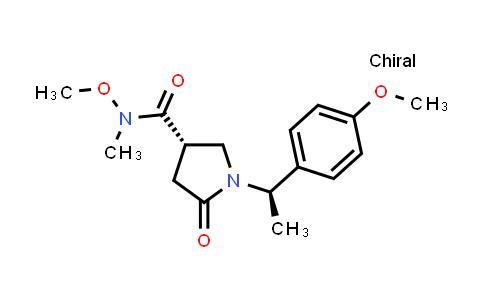 2208747-24-2 | (S)-N-Methoxy-1-((R)-1-(4-methoxyphenyl)ethyl)-N-methyl-5-oxopyrrolidine-3-carboxamide
