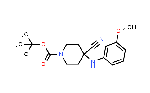 2208747-54-8 | tert-Butyl 4-cyano-4-((3-methoxyphenyl)amino)piperidine-1-carboxylate