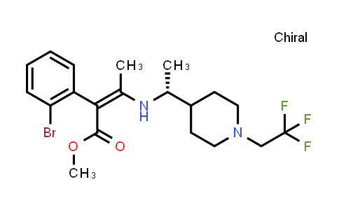 2222357-97-1   (R,Z)-Methyl 2-(2-bromophenyl)-3-((1-(1-(2,2,2-trifluoroethyl)piperidin-4-yl)ethyl)amino)but-2-enoate