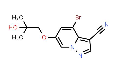 2222653-73-6   4-Bromo-6-(2-hydroxy-2-methylpropoxy)pyrazolo[1,5-a]pyridine-3-carbonitrile