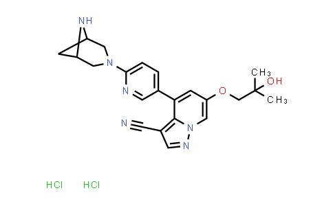 2222752-06-7 | 4-(6-(3,6-Diazabicyclo[3.1.1]heptan-3-yl)pyridin-3-yl)-6-(2-hydroxy-2-methylpropoxy)pyrazolo[1,5-a]pyridine-3-carbonitrile dihydrochloride