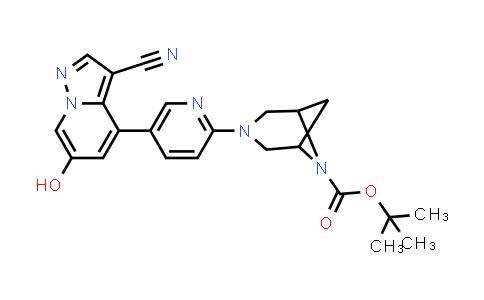 2222755-25-9 | tert-Butyl 3-(5-(3-cyano-6-hydroxypyrazolo[1,5-a]pyridin-4-yl)pyridin-2-yl)-3,6-diazabicyclo[3.1.1]heptane-6-carboxylate