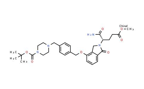 2225148-54-7 | tert-Butyl (S)-4-(4-(((2-(1-amino-5-methoxy-1,5-dioxopentan-2-yl)-1-oxoisoindolin-4-yl)oxy)methyl)benzyl)piperazine-1-carboxylate