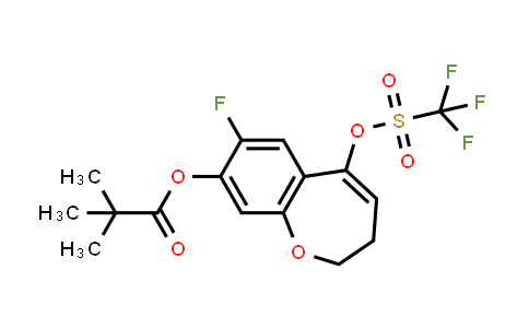 2226905-08-2 | 7-Fluoro-5-(((trifluoromethyl)sulfonyl)oxy)-2,3-dihydrobenzo[b]oxepin-8-yl pivalate