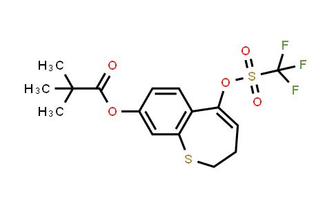 2226905-44-6 | 5-(((trifluoromethyl)sulfonyl)oxy)-2,3-dihydrobenzo[b]thiepin-8-yl pivalate