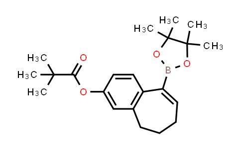 2226905-70-8 | 9-(4,4,5,5-tetramethyl-1,3,2-dioxaborolan-2-yl)-6,7-dihydro-5H-benzo[7]annulen-3-yl pivalate