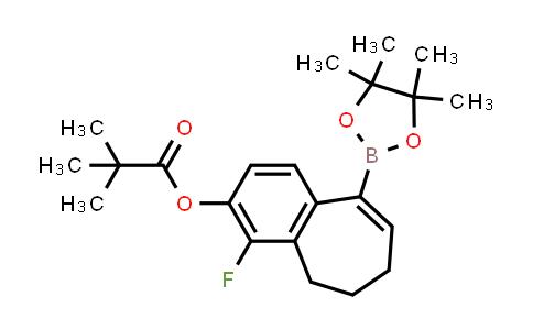 2226905-74-2   4-Fluoro-9-(4,4,5,5-tetramethyl-1,3,2-dioxaborolan-2-yl)-6,7-dihydro-5H-benzo[7]annulen-3-yl pivalate