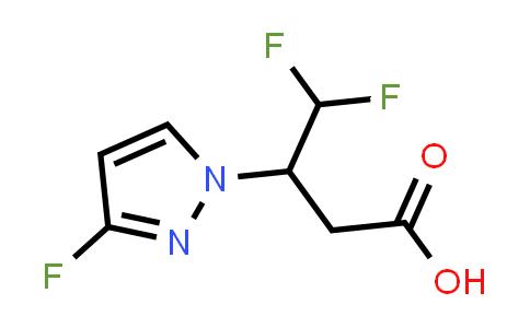 2227205-83-4   4,4-Difluoro-3-(3-fluoro-1H-pyrazol-1-yl)butanoic acid
