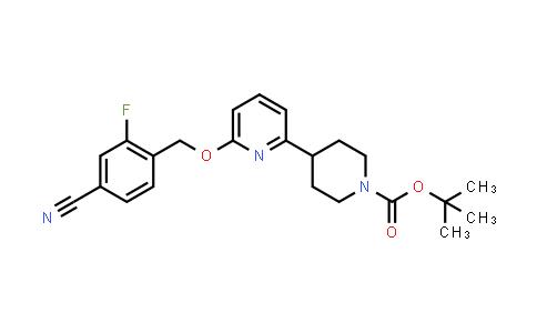 2230200-28-7   Tert-butyl 4-(6-((4-cyano-2-fluorobenzyl)oxy)pyridin-2-yl)piperidine-1-carboxylate