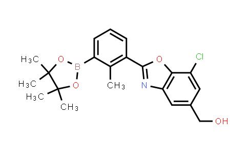 2230904-26-2   (7-Chloro-2-(2-methyl-3-(4,4,5,5-tetramethyl-1,3,2-dioxaborolan-2-yl)phenyl)benzo[d]oxazol-5-yl)methanol