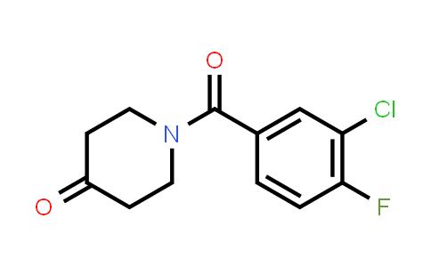 223632-64-2 | 1-(3-Chloro-4-fluorobenzoyl)piperidin-4-one