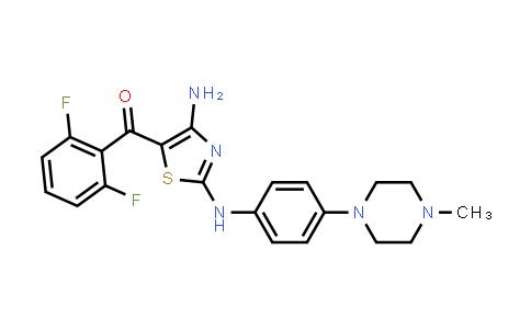 223784-70-1   (4-Amino-2-((4-(4-methylpiperazin-1-yl)phenyl)amino)thiazol-5-yl)(2,6-difluorophenyl)methanone