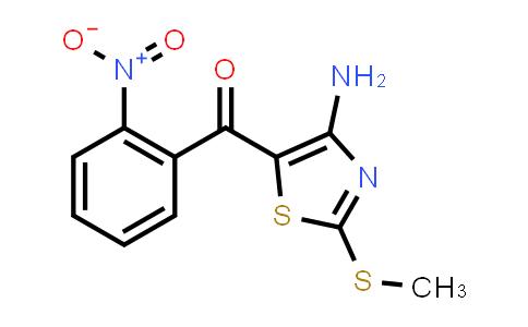 2237942-23-1   (4-Amino-2-(methylthio)thiazol-5-yl)(2-nitrophenyl)methanone