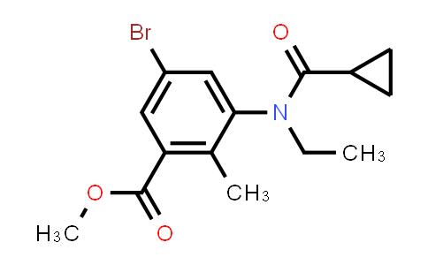 2238821-78-6   Methyl 5-bromo-3-(N-ethylcyclopropanecarboxamido)-2-methylbenzoate