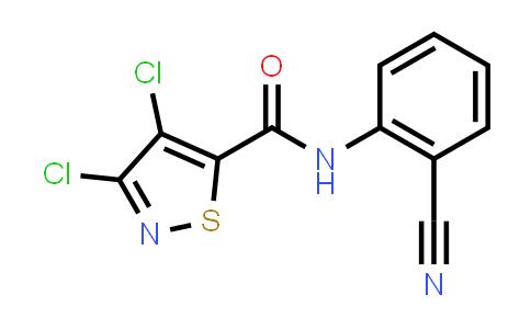 224049-04-1 | 3,4-Dichloro-N-(2-cyanophenyl)isothiazole-5-carboxamide