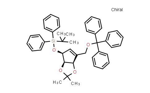 2241016-47-5   tert-Butyl(((3aR,4S,6aR)-2,2-dimethyl-6-((trityloxy)methyl)-4,6a-dihydro-3aH-cyclopenta[d][1,3]dioxol-4-yl)oxy)diphenylsilane