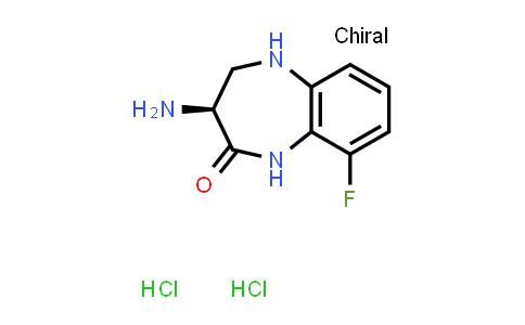 2243205-28-7 | (S)-3-Amino-9-fluoro-4,5-dihydro-1H-benzo[b][1,4]diazepin-2(3H)-one dihydrochloride