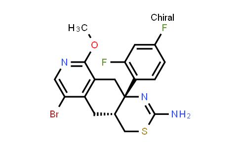 2244036-47-1 | (4aR,10aS)-6-Bromo-10a-(2,4-difluorophenyl)-9-methoxy-4a,5,10,10a-tetrahydro-4H-[1,3]thiazino[5,4-g]isoquinolin-2-amine