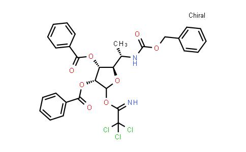 2244622-30-6 | (2R,3R,4R)-2-((S)-1-(((Benzyloxy)carbonyl)amino)ethyl)-5-(2,2,2-trichloro-1-iminoethoxy)tetrahydrofuran-3,4-diyl dibenzoate