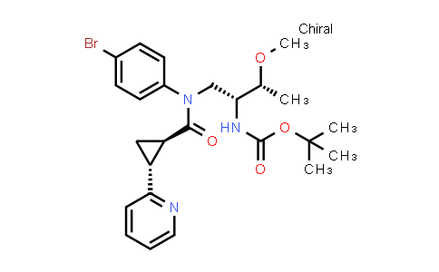 2244881-21-6   tert-Butyl ((2R,3R)-1-((1R,2R)-N-(4-bromophenyl)-2-(pyridin-2-yl)cyclopropane-1-carboxamido)-3-methoxybutan-2-yl)carbamate