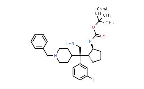 2245810-58-4 | tert-Butyl ((1S,2R)-2-((S)-2-amino-1-(1-benzylpiperidin-4-yl)-1-(3-fluorophenyl)ethyl)cyclopentyl)carbamate